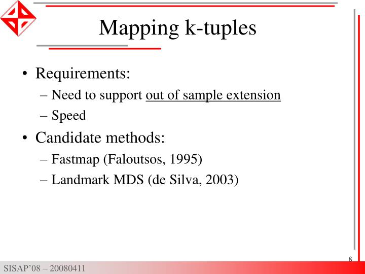 Mapping k-tuples