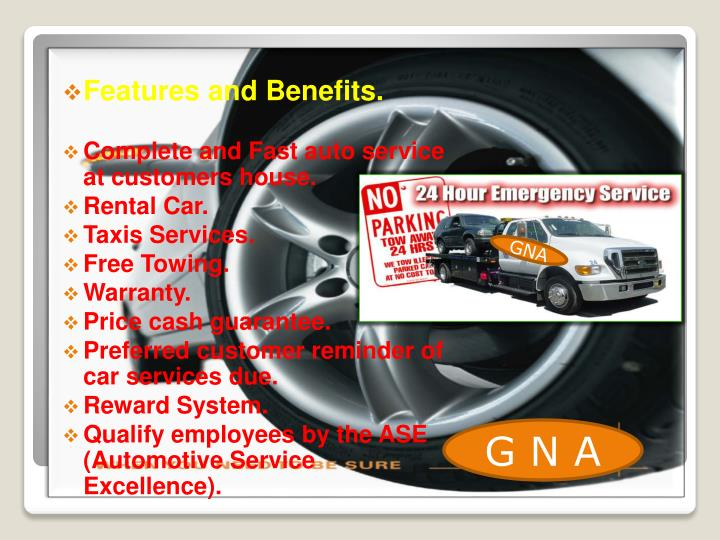 Features and Benefits.
