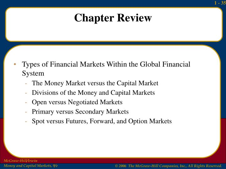 Types of Financial Markets Within the Global Financial System