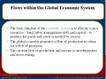 flows within the global economic system