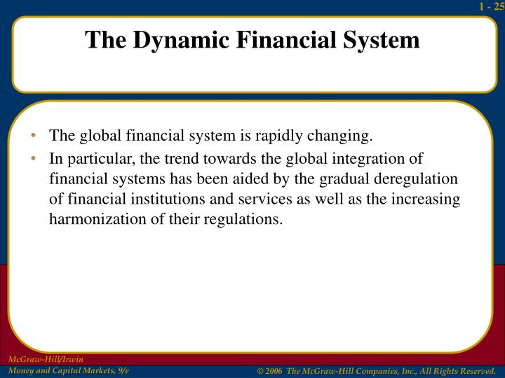 The global financial system is rapidly changing.