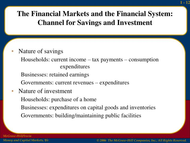Nature of savings