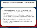 the role of markets in the global economic system
