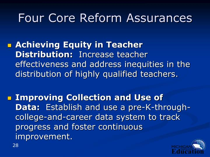Four Core Reform Assurances