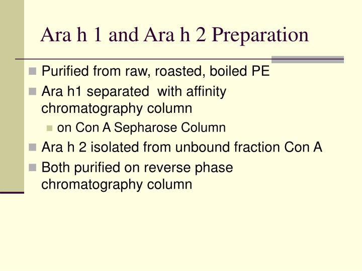 Ara h 1 and Ara h 2 Preparation