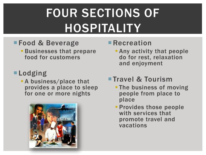 Four Sections of Hospitality