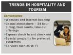 trends in hospitality and tourism1