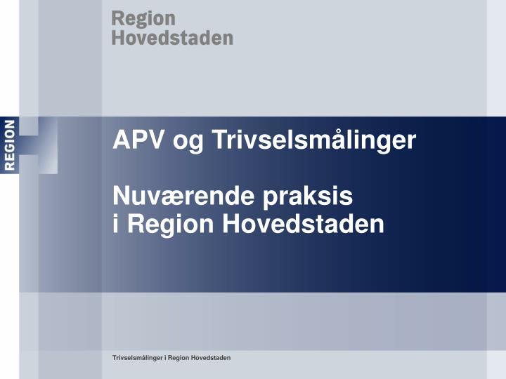 APV og Trivselsmålinger