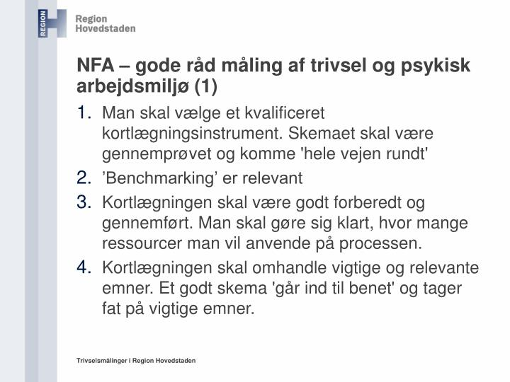 NFA – gode råd måling af trivsel og psykisk arbejdsmiljø (1)