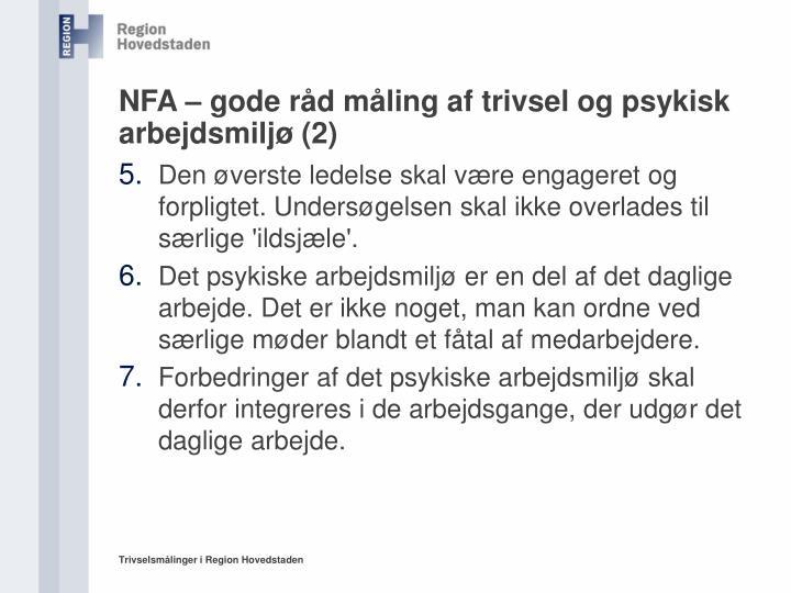 NFA – gode råd måling af trivsel og psykisk arbejdsmiljø (2)