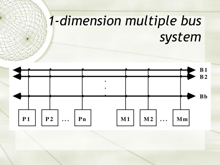 1-dimension multiple bus system