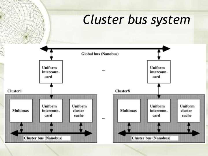 Cluster bus system