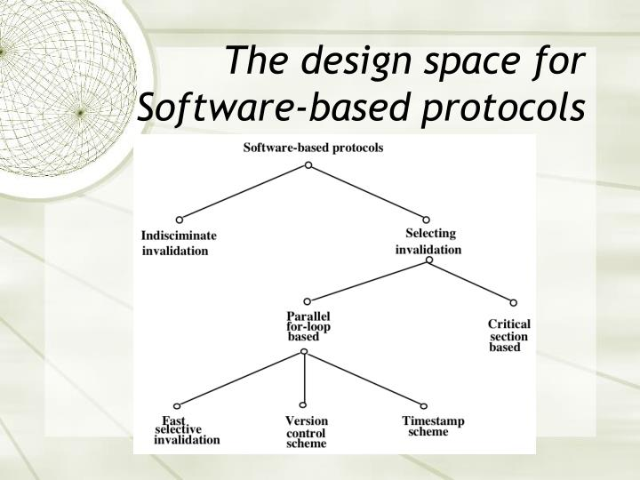 The design space for Software-based protocols