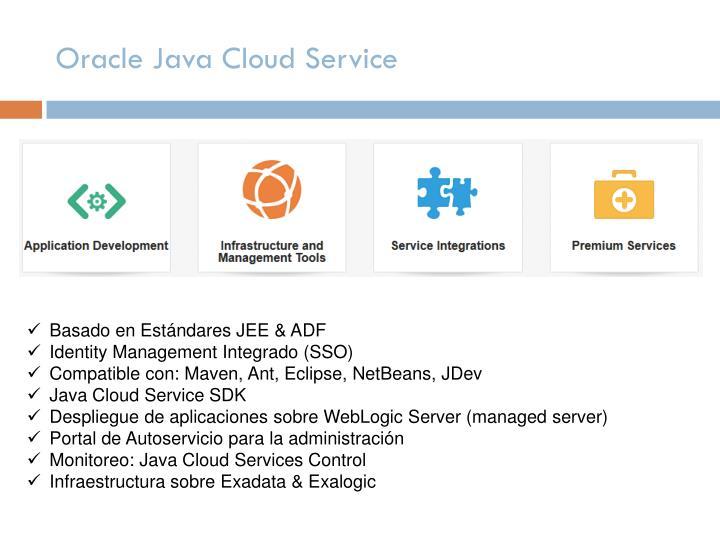 Oracle Java Cloud Service