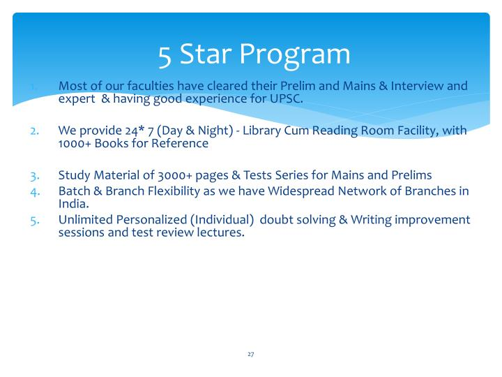 5 Star Program