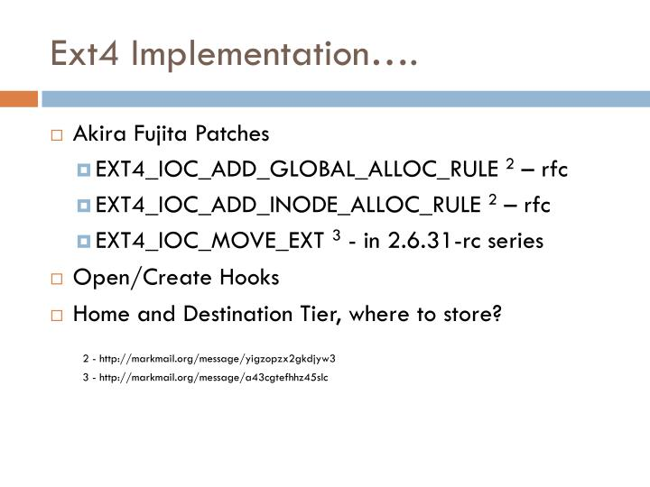 Ext4 Implementation….