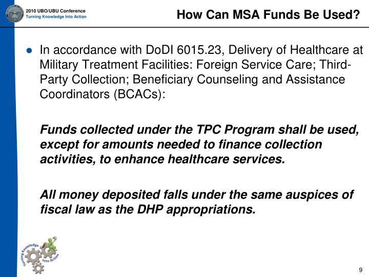 How Can MSA Funds Be Used?