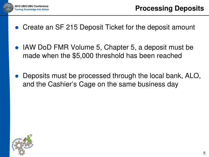 Processing Deposits