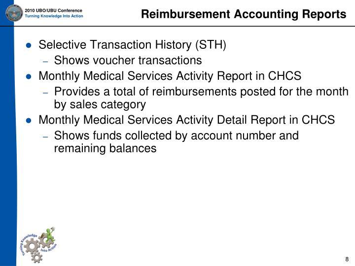 Reimbursement Accounting Reports