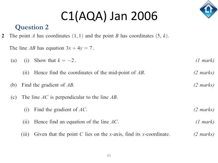 C1(AQA) Jan 2006