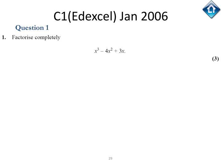 C1(Edexcel) Jan 2006