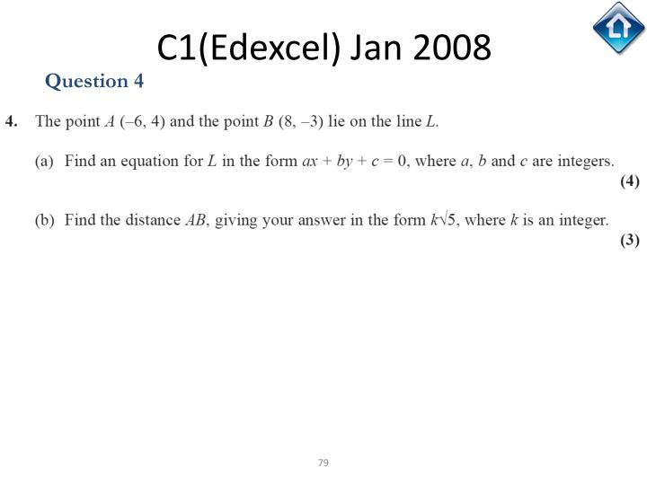 C1(Edexcel) Jan 2008