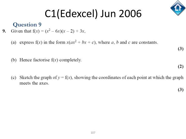 C1(Edexcel) Jun 2006