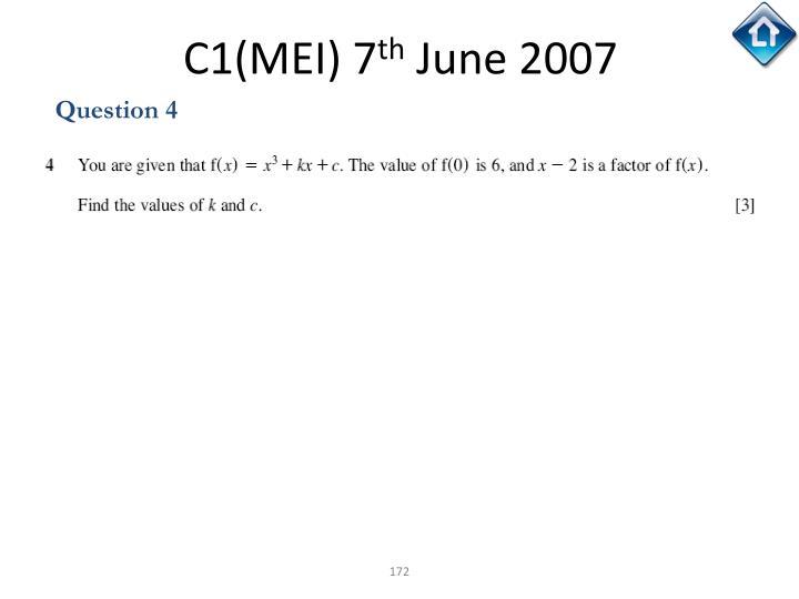 C1(MEI) 7