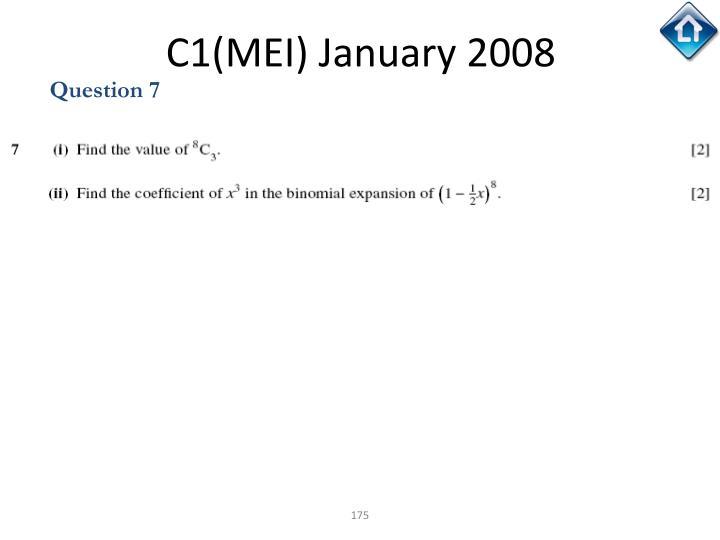 C1(MEI) January 2008