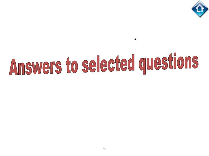 Answers to selected questions
