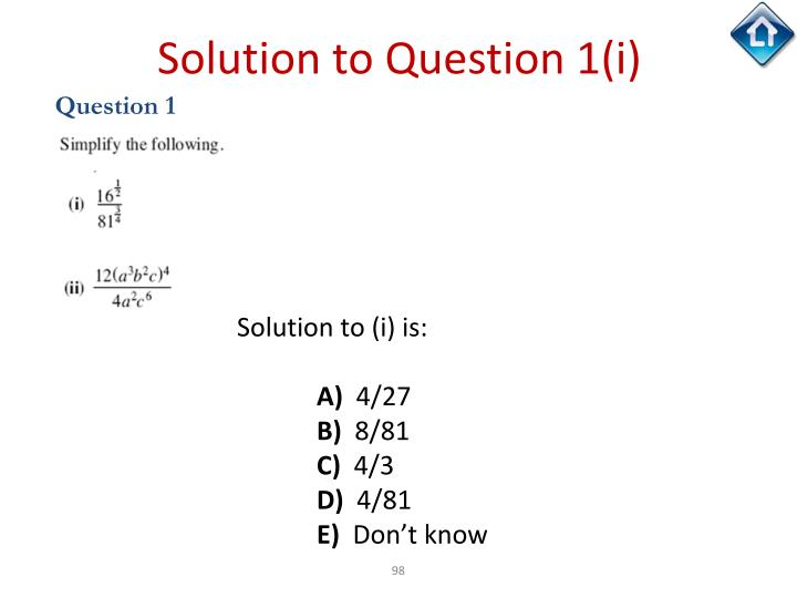 Solution to Question 1(