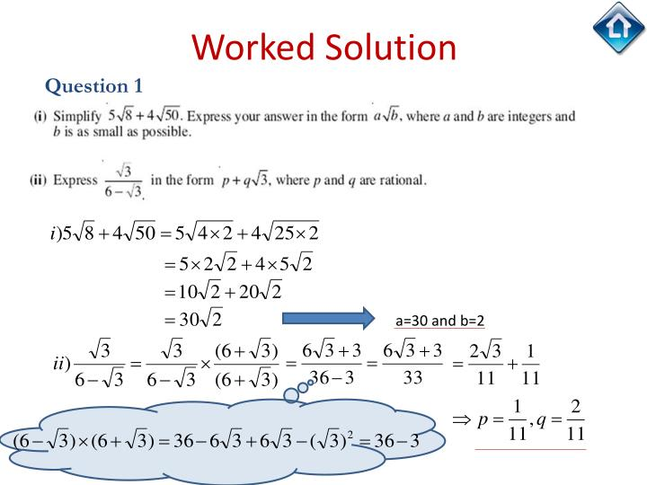 Worked Solution