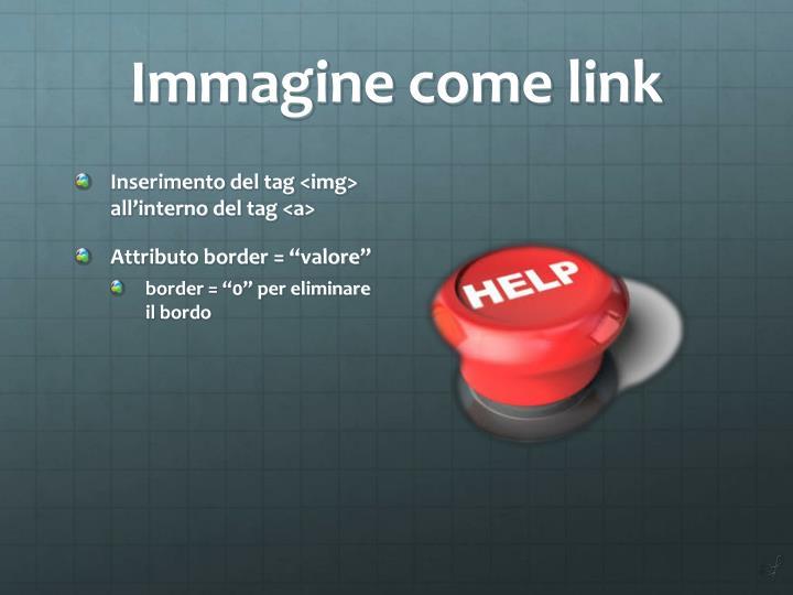 Immagine come link