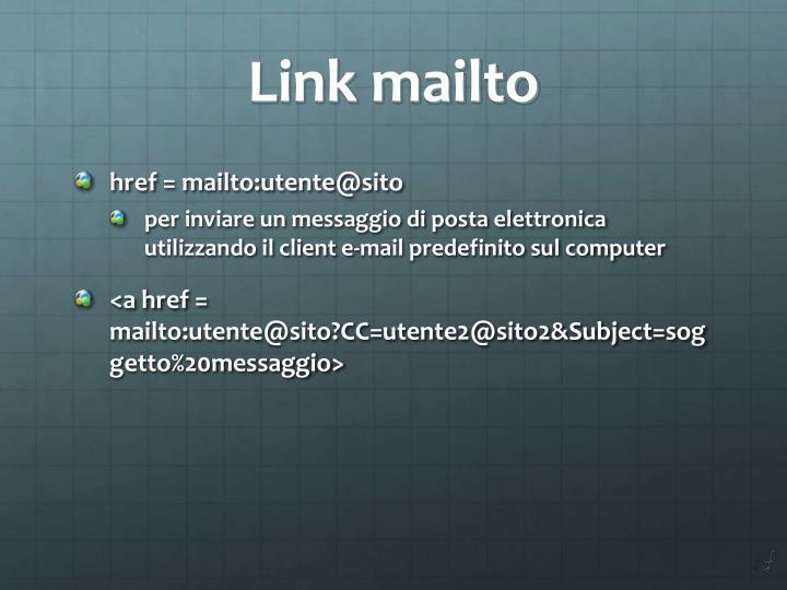 Link mailto