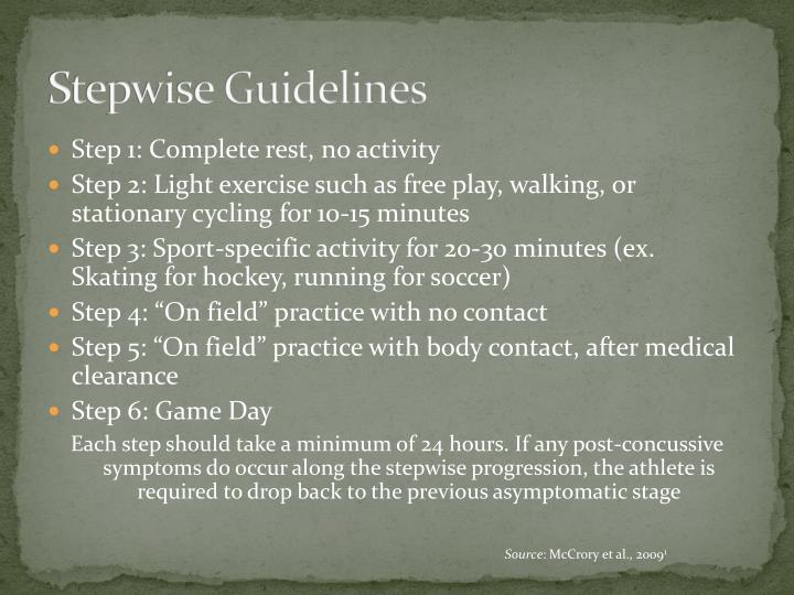 Stepwise Guidelines