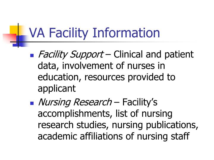 VA Facility Information