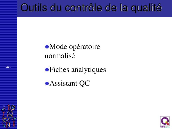 Outils du contrôle de la qualité