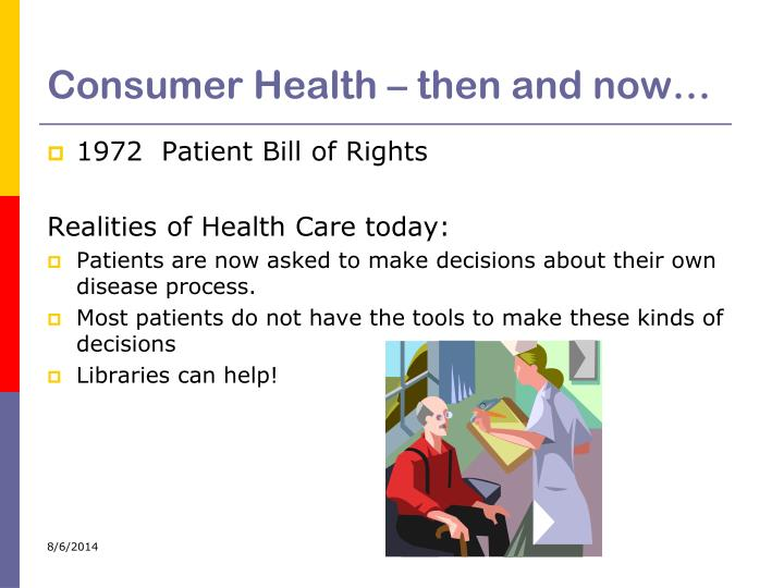 Consumer health then and now