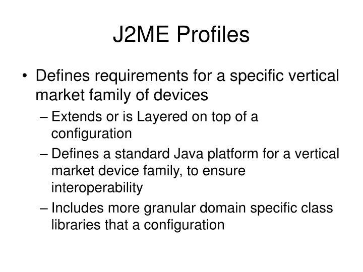 J2ME Profiles