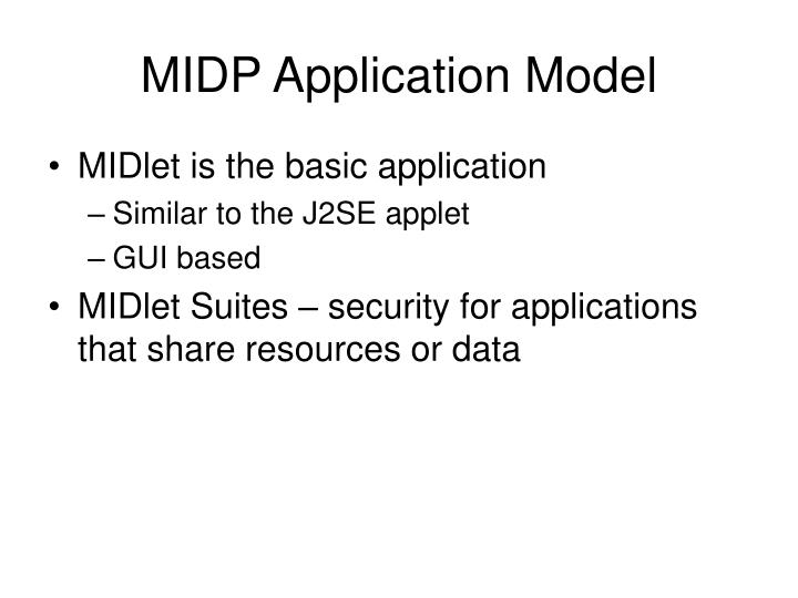 MIDP Application Model