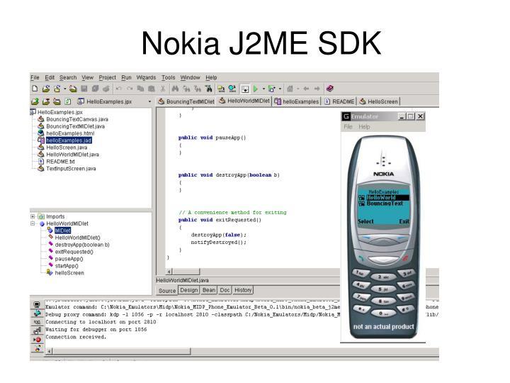 Nokia J2ME SDK