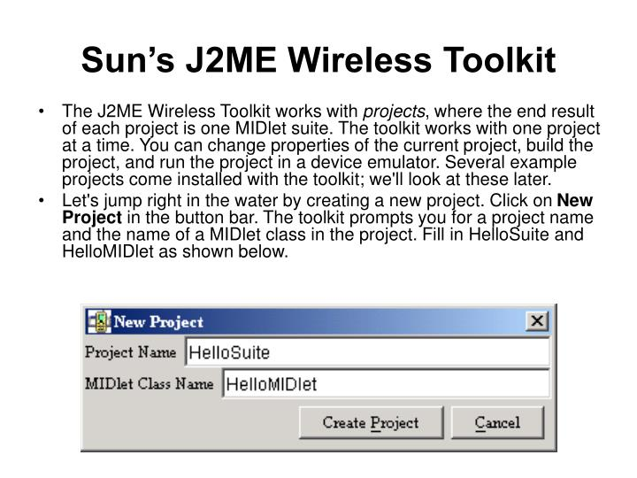 Sun's J2ME Wireless Toolkit