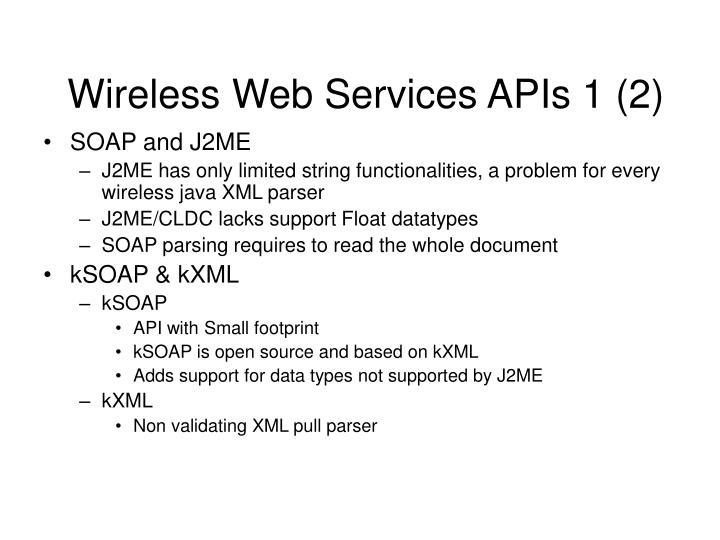 Wireless Web Services APIs 1 (2)