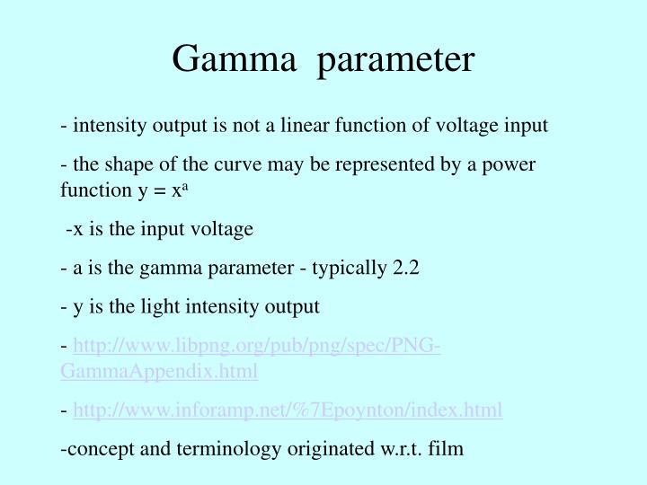Gamma  parameter