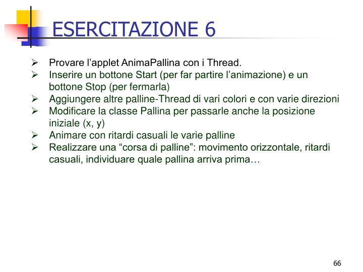 ESERCITAZIONE 6