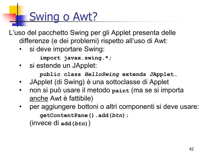 Swing o Awt?