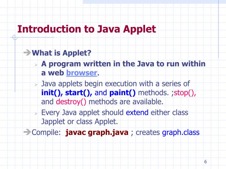 Introduction to Java Applet