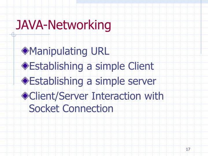 JAVA-Networking