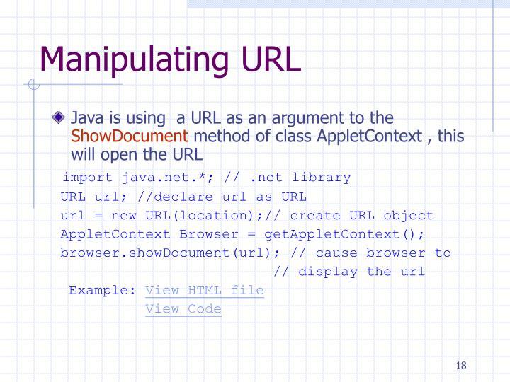 Manipulating URL