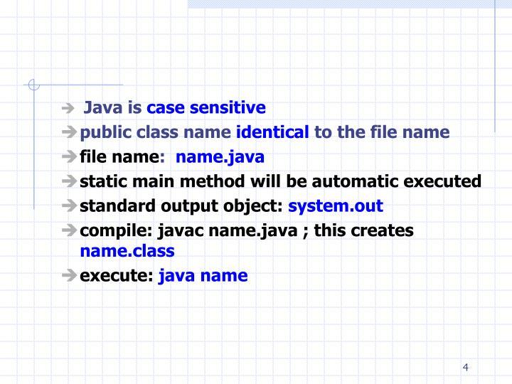 Java is